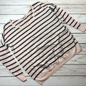 VICTORIA SECRET pink and black striped sweater